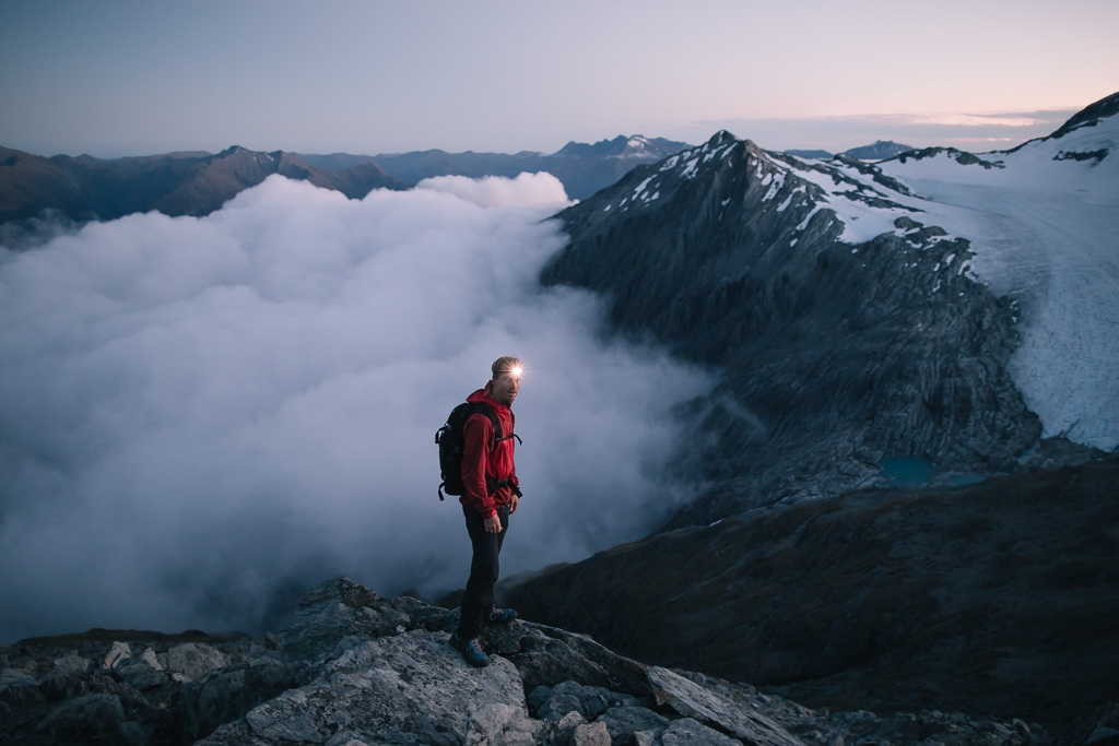 Early mornings on top of the Southern Alps, New Zealand. Photo by Matt Cherubino.