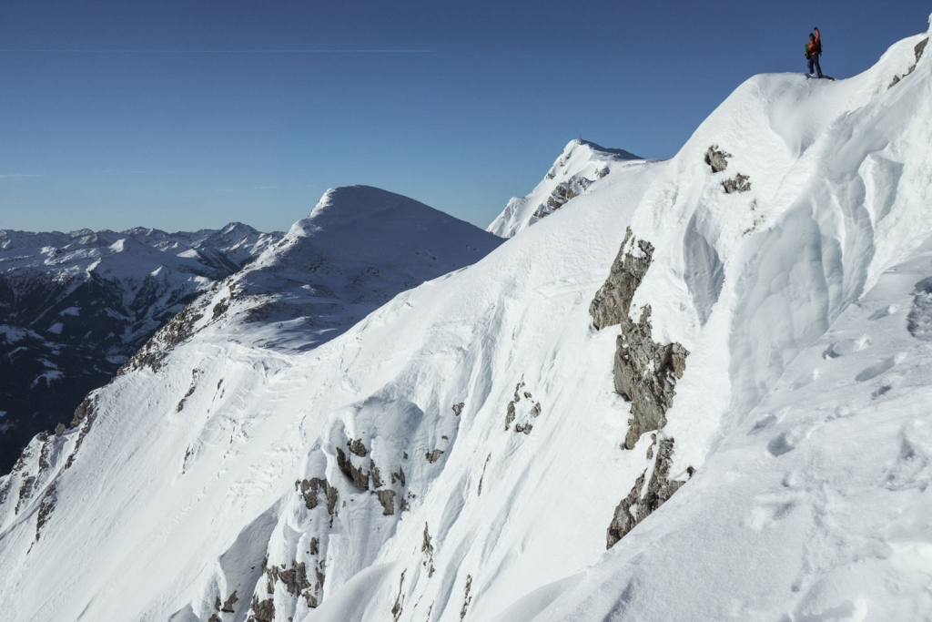 Splitboarding in the Austrian Alps. Photo by Stefan Filzmoser.