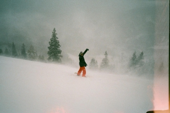 Snowboarder In The Storm In Eastern Austria 35mm