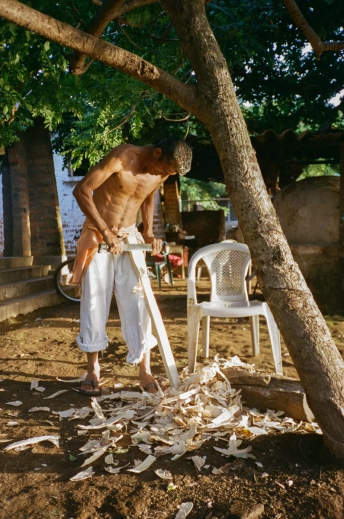 Man Working On Wood In Northern Nicaragua 35mm
