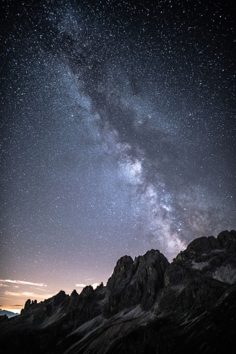 Starry Nights in the Dolomites Italy.