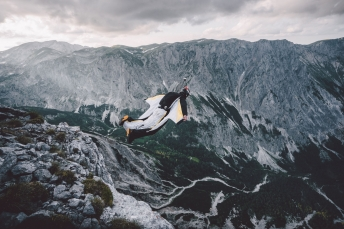 Wingsuit Basejump in the Austrian Alps.