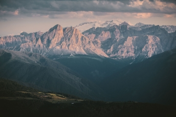 Marmolada in the Dolomites, Italy.