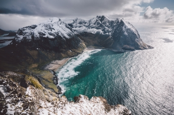 Landscape on the Lofoten Islands in Norway.
