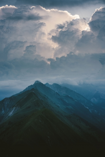 Crazy cloud formations in the Swiss Alps.