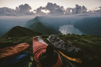 Bivy mornings and crazy cloud formations in the Swiss Alps.