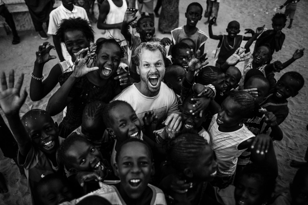 On production in West Africa. Photo by Felix Gaensicke.