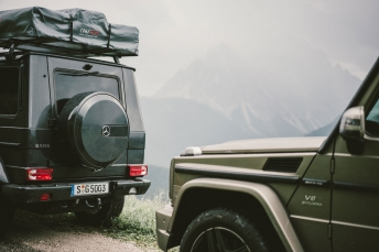 Shooting in the Dolomites for Mercedes Benz.