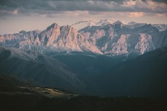 Marmolada in the Dolomites, Italy.