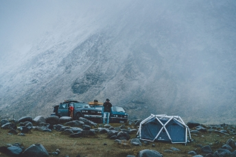 Basecamp on the Lofoten Islands in Norway.