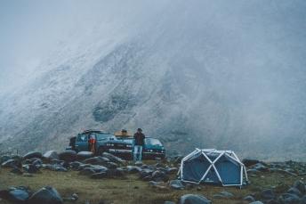 Basecamp on the Lofoten Islands in Norway.